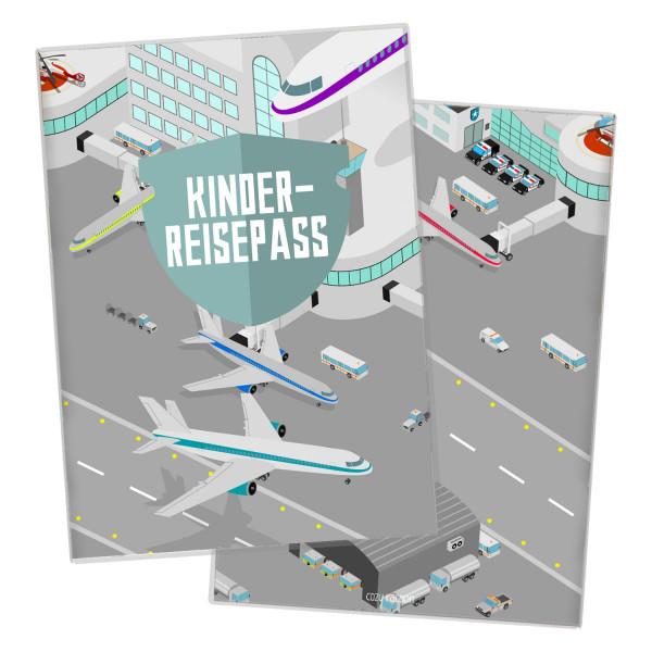 Kinderreisepass-Hülle Airport