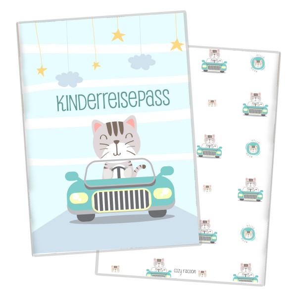 Kinderreisepass-Hülle Cat