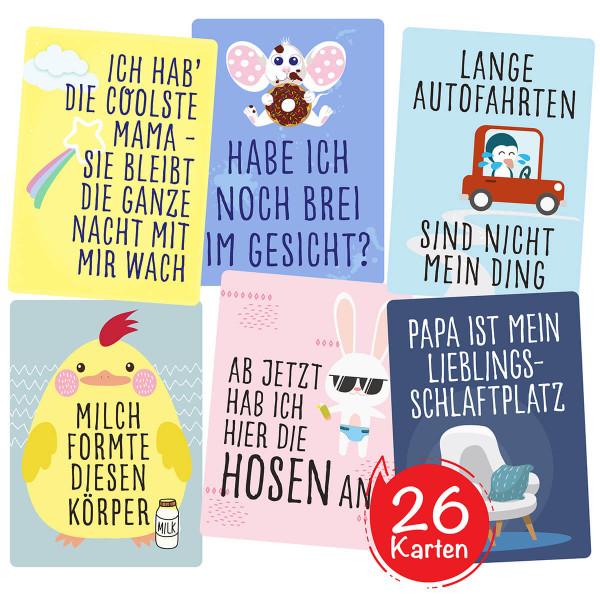 Lustige Baby Fotokarten