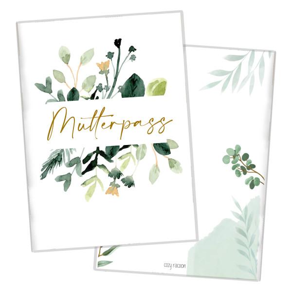 Mutterpasshülle Green Flowers