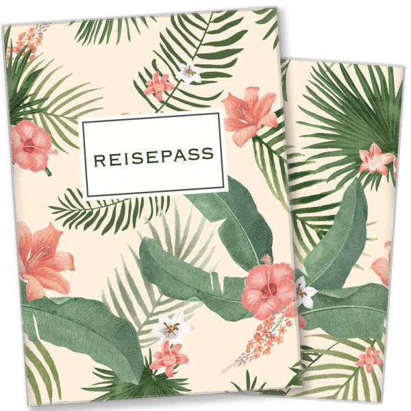 Reisepasshülle Palmen
