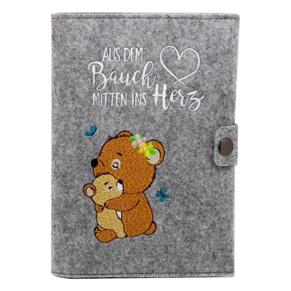 Filz Mutterpasshülle Waldbären