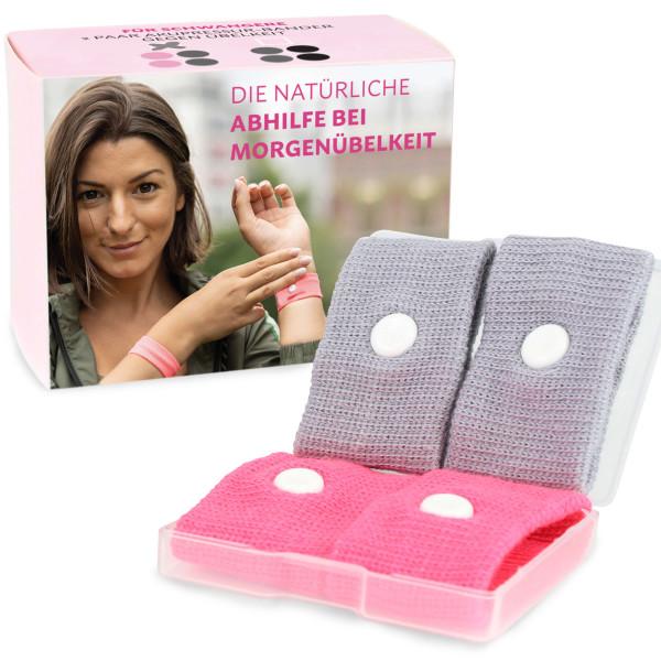 Gegen Schwangerschaftsübelkeit - pink + grau