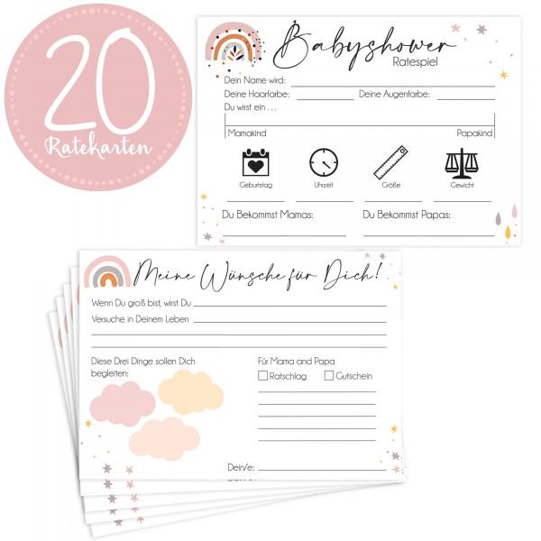 20 Babyratekarten Design Wolke