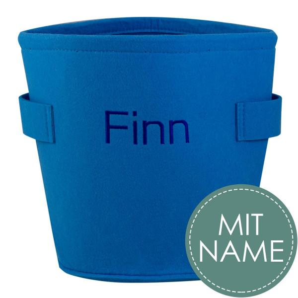 Filzbox mit Namen Blau